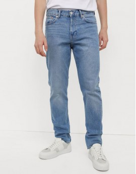 Slim Fitted Ice Blue Jeans